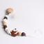 Herisson-Hetre-silicone-perles-bebe-dentition-Bracelet-Dummy-sucette-chaine-Clips miniature 15