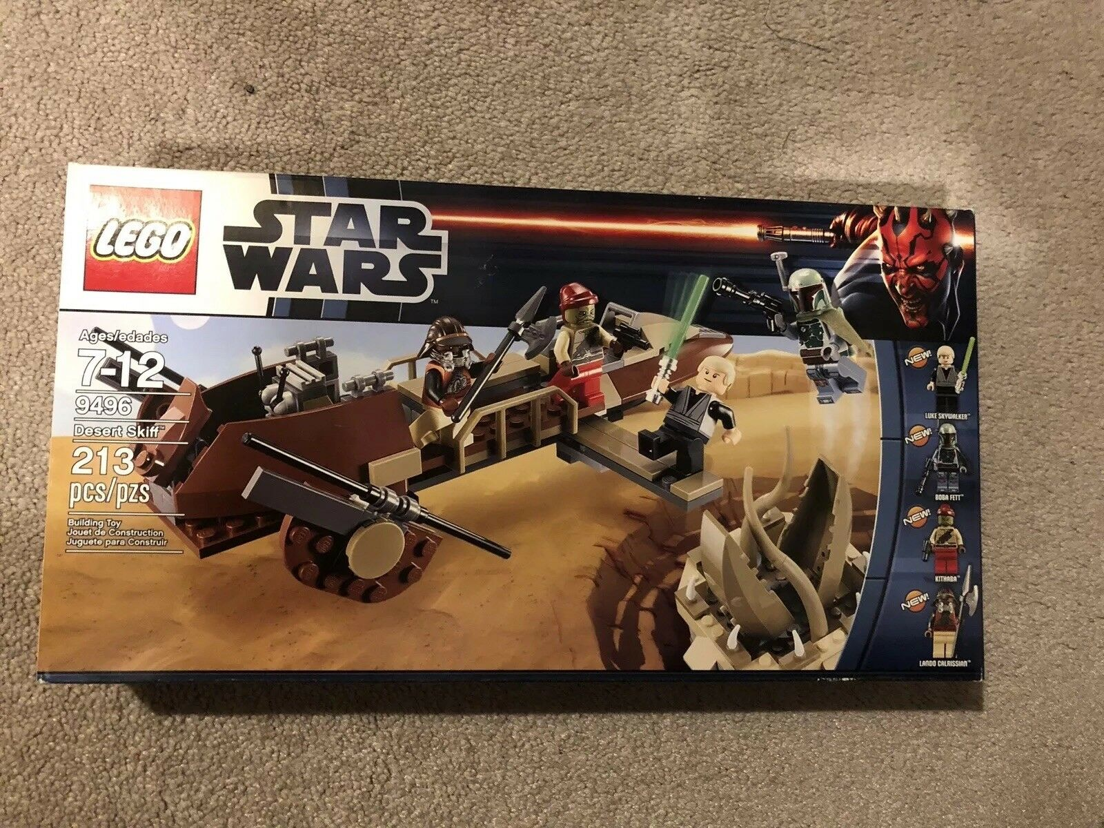 LEGO Star Wars desert skiff 9496 brand new and factory sealed Retired