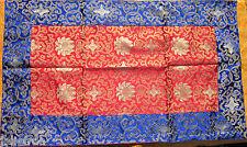"VIBRANTLY COLORFUL 22"" BY 37"" SILK BROCADE ALTAR CLOTH TIBETAN BUDDHIST NEPAL"