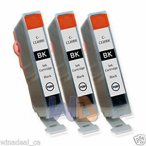 3-Black-CLI-8-Ink-Cartridge-CLI-8BK-CLI-8-WITH-NEW-CHIP-for-Canon-MP950-Printer