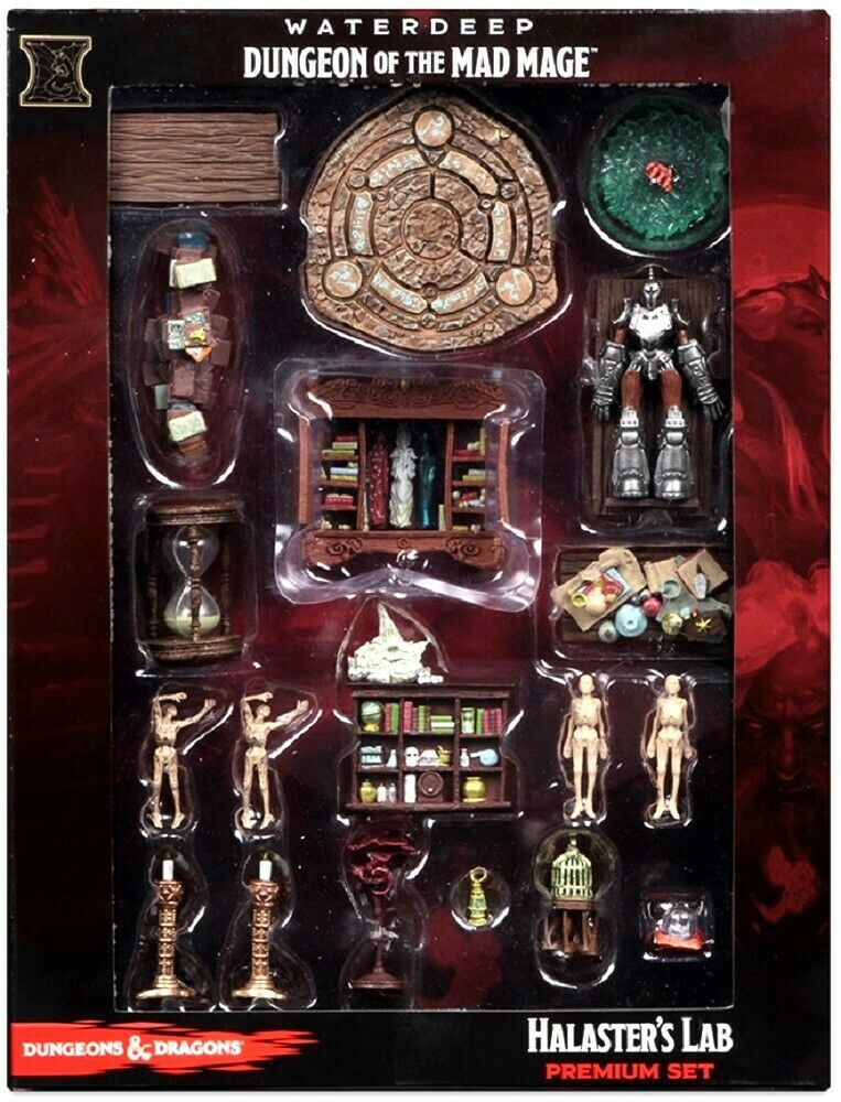 HALASTER'S LAB Waterdeep Dungeon of the Mad Mage Icons D&D premium miniature Set