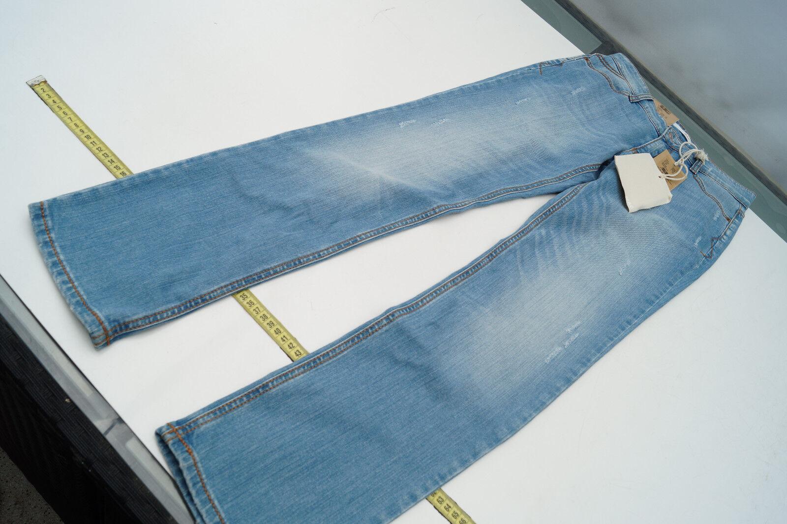 MAC Carrie Authentic Damen Jeans Hose stretch Gr.36 32 blau used look NEU
