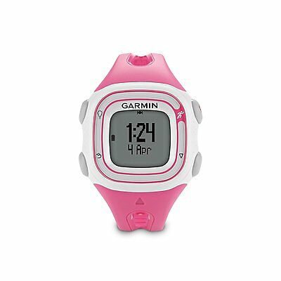 Garmin Forerunner 10 GPS Fitness Sport Watch - Pink/White 010-01039-07