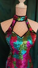 SEQUINED PROM OR BALL GOWN---ready for the gala, size XS Party Time, silk lined