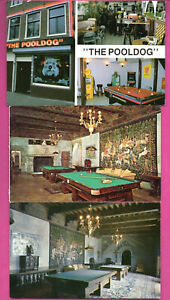 BILLIARD-LOT-OF-7-VINTAGE-POSTCARDS-195