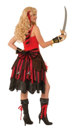 Pirate Bustle Layered Skull Crossbones Pin-On Womens Adult Costume Accessory