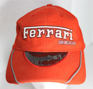Red Ferrari Gear Baseball Tinted Visor Hat Cap Adjustable Strapback ... 15cc5c04fed