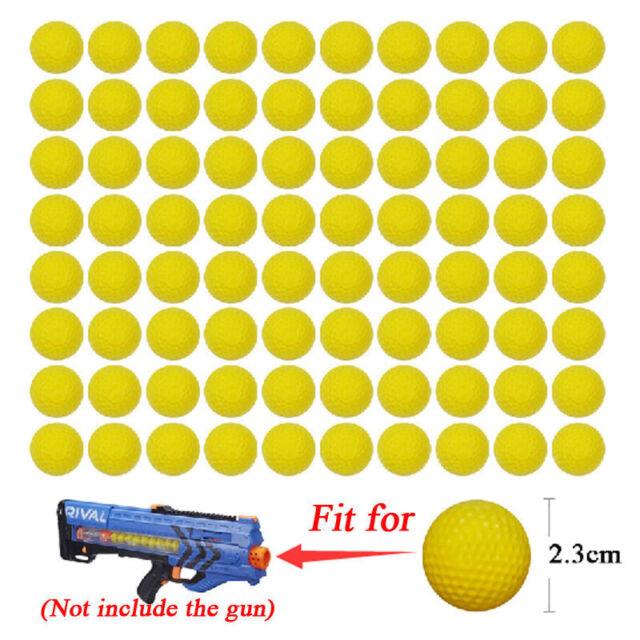 New 100PCS Round Refill Replace Bullet Balls Toy For Nerf Rival Apollo Zeus Gun