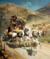Rudolf Koller la Gottardo post 1873 vie da Uri svizzero pittore fac simili 6