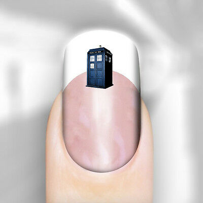 Nail Art Decal Transfer Doctor Who Tardis Post Adult Kid Transfer Peel n Apply