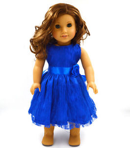 Fits-18-034-American-Girl-Madame-Alexander-Handmade-Doll-Clothes-Blue-Dress-MG021