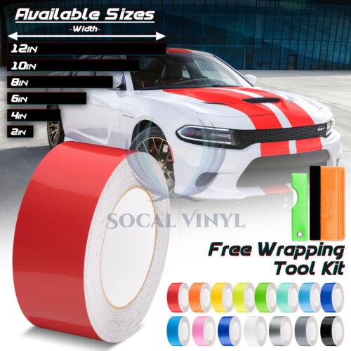 Gloss Color Racing Stripes Vinyl Wrap For Dodge Charger Stripe Sticker 25FT//50FT