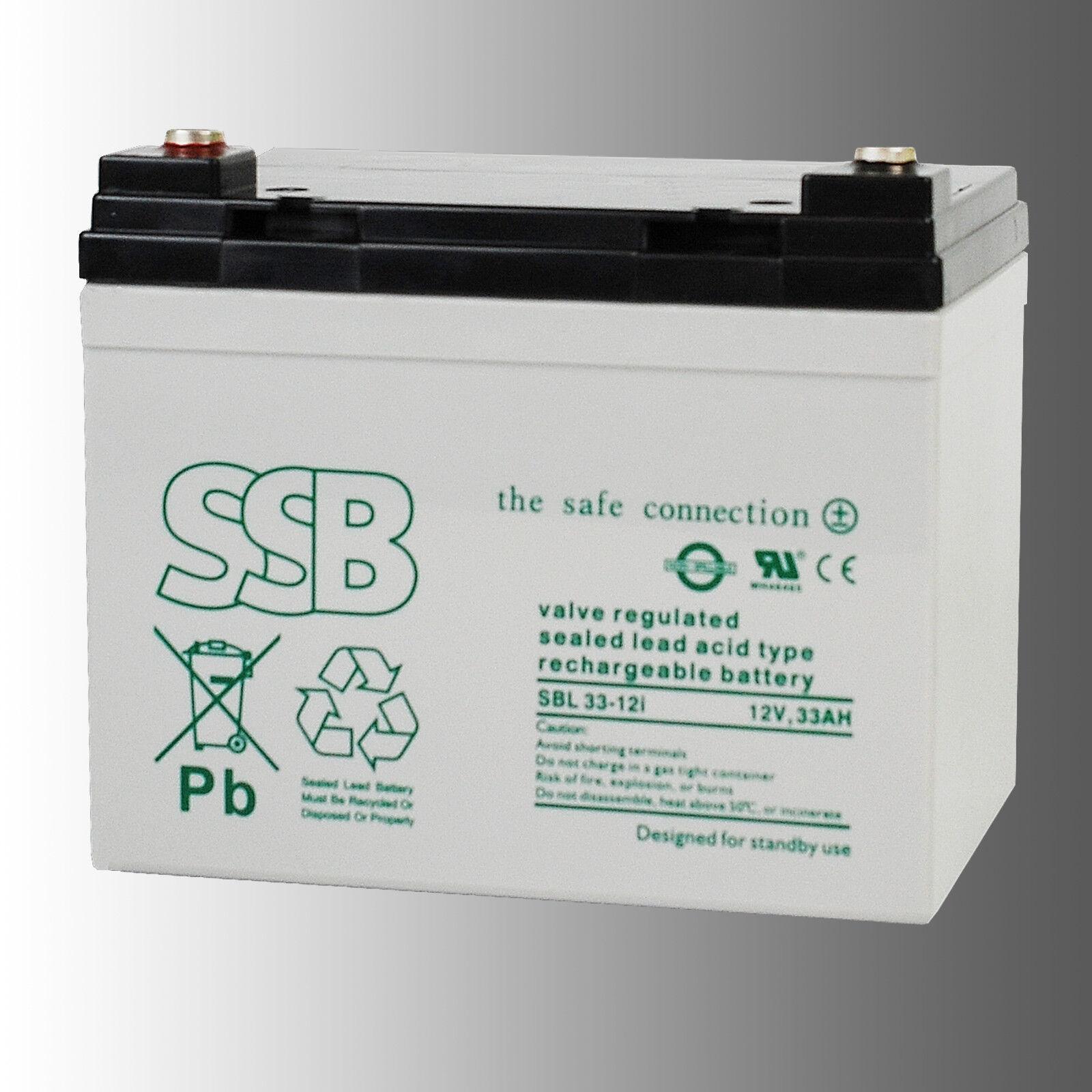 SSB Bleibatterie SBL 33-12i 12V 33Ah Longlife