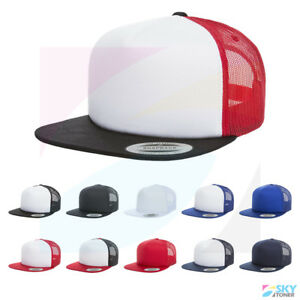 094422e6e Details about New! Yupoong Foam Trucker Cap Sponge Backing 5-Panel  Structured Hat 6005