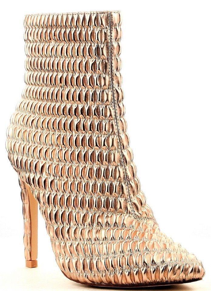 Womens Ankle High Heeled Pointy Toe Elastic Side Zip Boots Cape Robbin Gigi-101