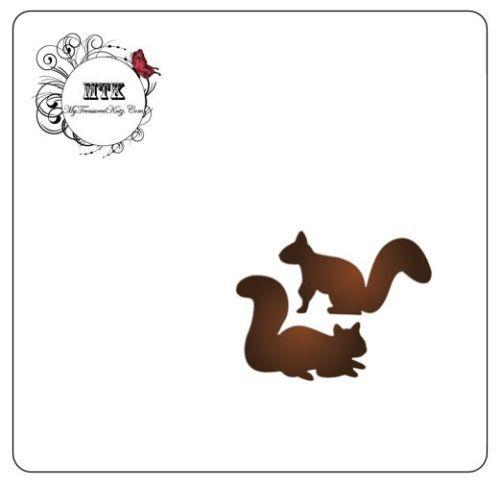 ".75 x .6/""  NEW My Treasured Kutz 4064 /""Playful Squirrels/"" Size .55/"" x.5/"""