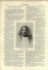 1896 An American Lady Journalist Interview With Miss Jeanette Gilder