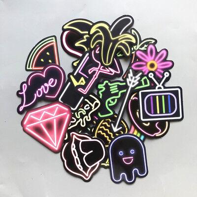21 neon lights vinyl stickers penny board skateboard decal