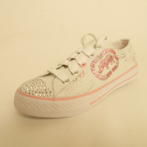 Ecko Red Jitterbug Trainers Sequin Gem Detail Size 12.5 Girls White//Pink £11.99