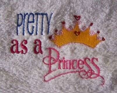 embroidered cute pink Unicorn gift Flannel Unicorn Face cloth