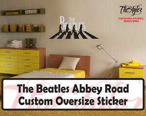 The beatles abbey road custom wall vinyl sticker ebay for Abbey road wall mural