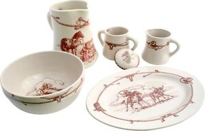 Image is loading Casual-Home-Sky-Ranch-Western-Style-Dinnerware-Serving-  sc 1 st  eBay & Casual Home Sky Ranch Western Style Dinnerware Serving Set | eBay