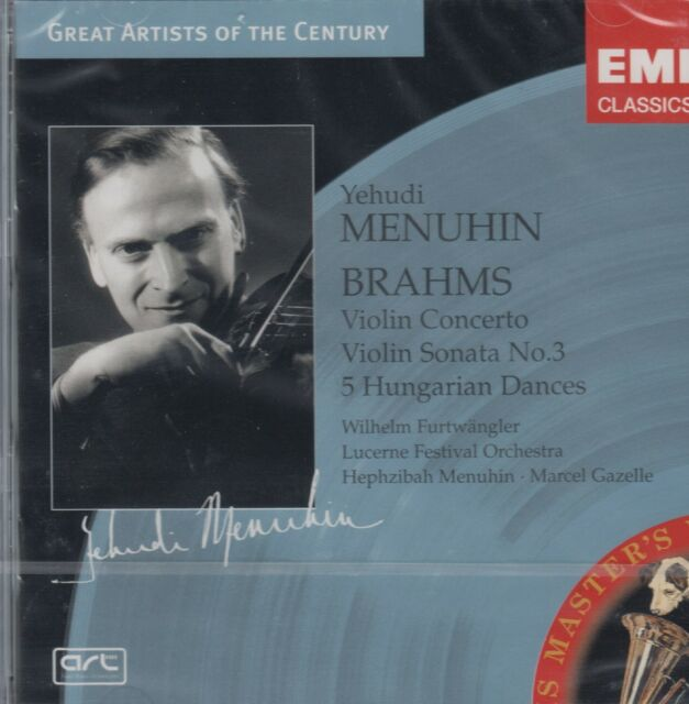 Brahms - Yehudi Menuhin - Violinkonzerte No. 3, 5  Hungarian Dances  (NEU! OVP)