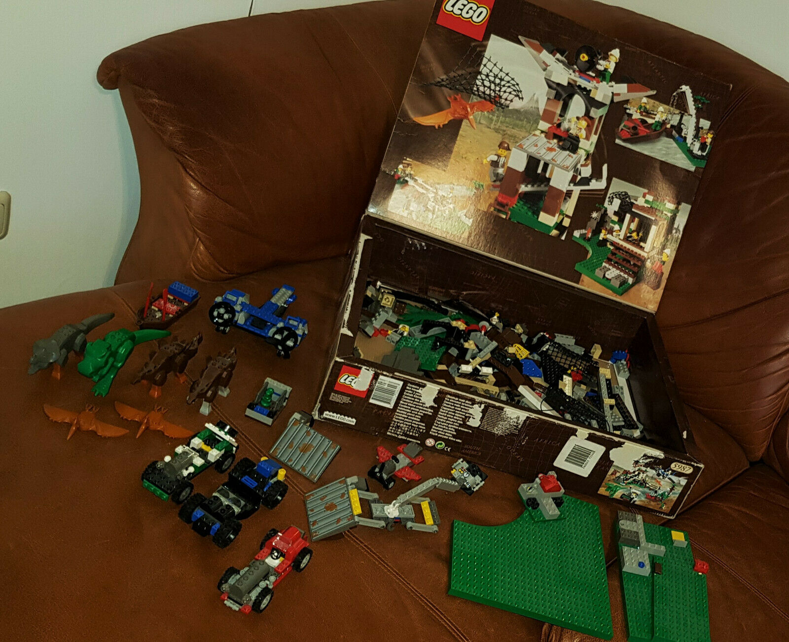 Lego 5987 Adventures Dino Forschungsstation Welt Konvolut mit vielen Anleitungen