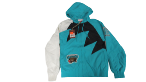 New Vancouver Grizzlies Mens Sizes XS-M Mitchell & Ness Shark Tooth Jacket