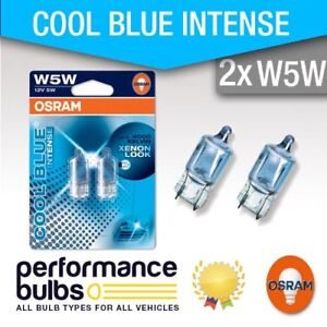 PEUGEOT-508-10-gt-Number-Plate-Light-Bulbs-W5W-501-Osram-Halogene-Cool-Bleu-5-W
