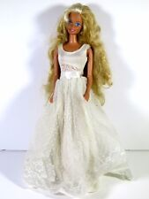 DRESSED BARBIE DOLL IN POLKA DOT WEDDING GOWN