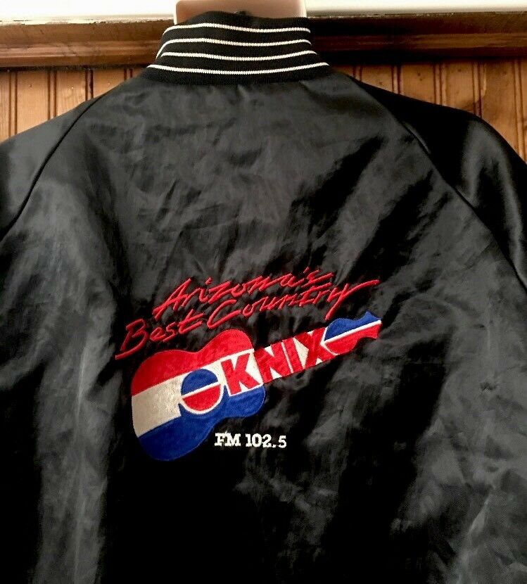 VTG KNIX 102.5 FM Phx Made In USA Country Music Shiny Fits Like XL Dunbrooke