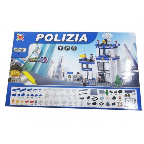 COSTRUZIONI 233 PEZZI STAZIONE DI POLIZIA CITY SWAT BLOCKS LEGO GIOCO BAMBINI 3+
