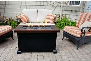Image Is Loading Outdoor Gas Fire Pit Backyard Fireplace Coffee Table