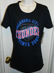 Oklahoma City Thunder NEW NBA For Her Basketball T-shirt OKC Womens ... 502a16d822