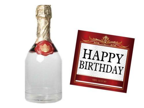 Geldgeschenk Geburtstag befüllbare Sektflasche Geburtstag Geschenke Verpackung