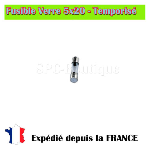 Temporisé 5A//250V Fusible verre 5x20