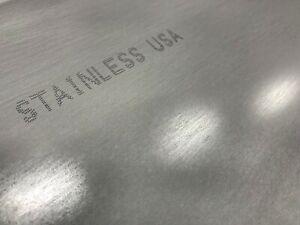 "304SS 1//8/"" Stainless Steel Plate 1//8/"" x 16/"" x 16/"" 11ga 11gauge"