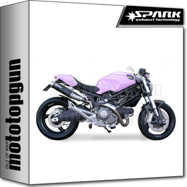 SPARK 2 EXHAUSTS ROUND KAT CARBON HIGH DUCATI MONSTER 796 2010 10 2011 11