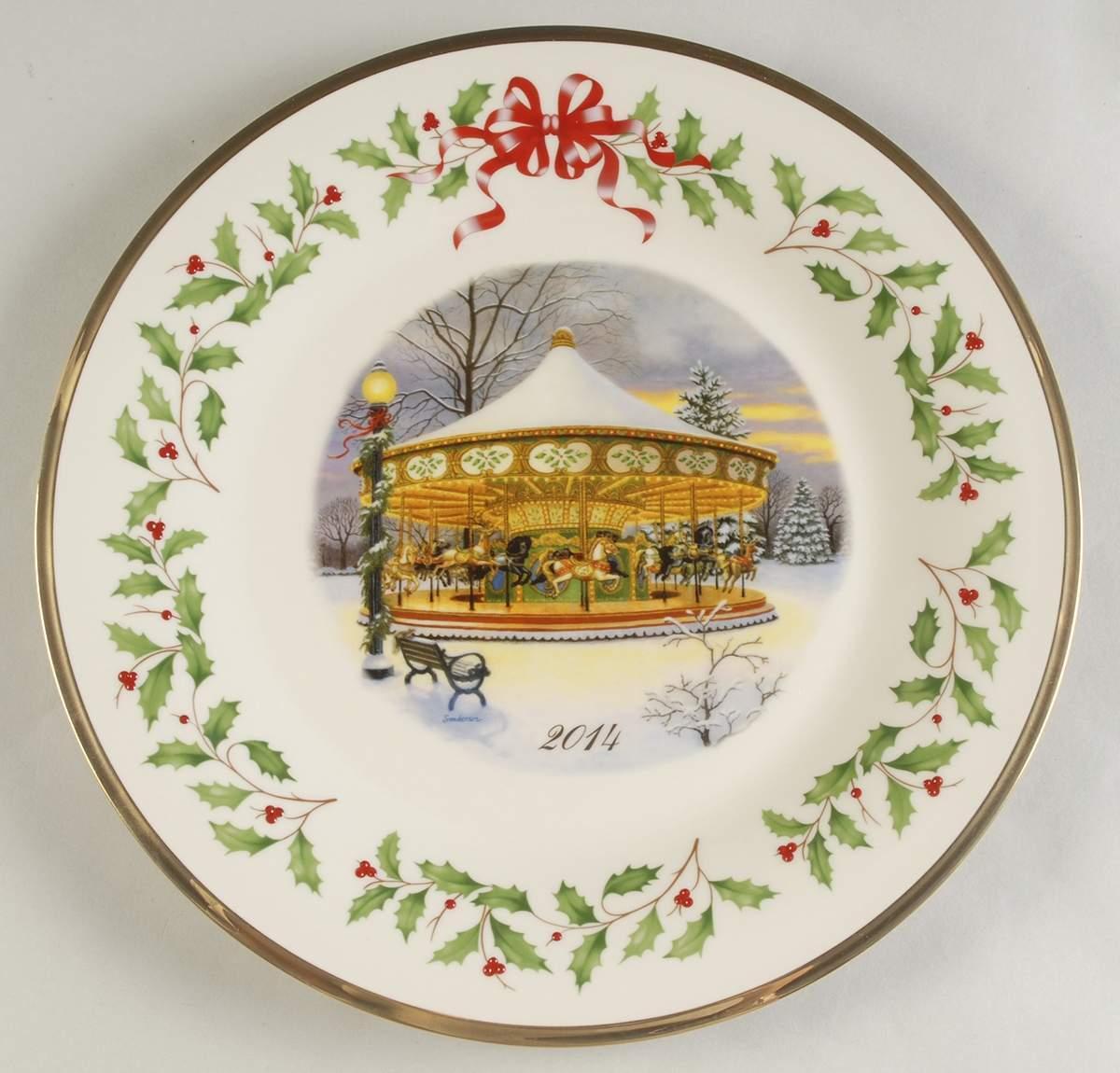 Neu in Geschenkschachtel 2014 Lenox Weihnachtskarussell Annual Collector Plate