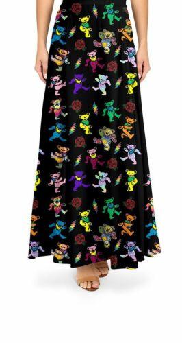 New Grateful Dead Dancing Bear Maxi Skirt 2 Sizes Available