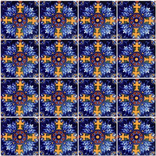 6 PCS Talavera 6X6 Handmade Ceramic Tile Mexican C290