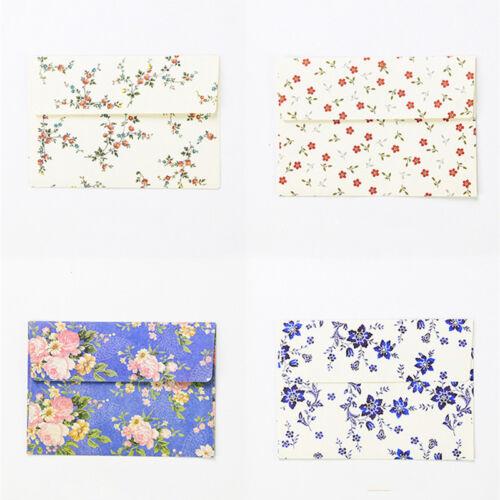 10* Blumenumschläge Vintage Floral Umschlag Mini Brief Einladungen Briefumschlag