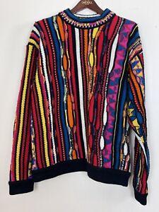 Seltene Vintage auth. COOGI Biggie Bill Cosby Schurwolle Pullover Gr Large Australien