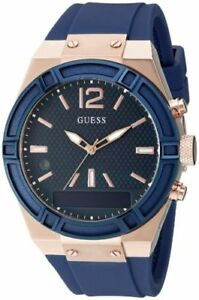 86a68eb3f6212f Image is loading Guess-Connect-Ladies-Smartwatch-Rose-Gold-Navy-Blue-