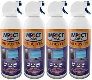 canned air duster compressed canned air spray keyboard computer tv dust off 4 pk ebay. Black Bedroom Furniture Sets. Home Design Ideas