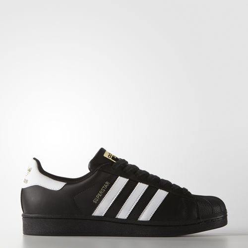 New Adidas Men's Originals Superstar Shoes (B27140) Black White Metallic Gold