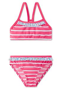 Mädchen Bustier-Bikini Set 104 116 128 140 Schwimmanzug SCHIESSER AQUA LF40