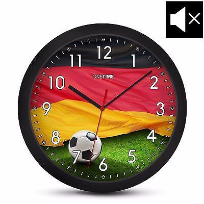 Ausdrucksvoll Onetime Kinderwanduhr (Ø) 30,5cm Lautlose Kinder Wanduhr & Deutschland Fußball