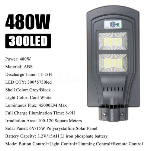 680W 68000LM 450LED Solar Street Light Motion Sensor Outdoor Wall Lamp